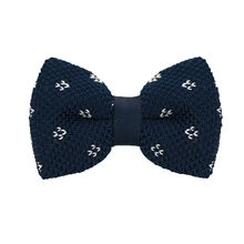 LF-346 2016 New Arrival Knitted Crochet Men`s Bowties Adjustable Navy blue & White Geometric For Party Bussiness Free Shopping