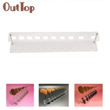 Levert Dropship 10 Holes Brush Storange Place Organizer Clear Acrylic 10 Lattices Cosmetic Shelf 0324B