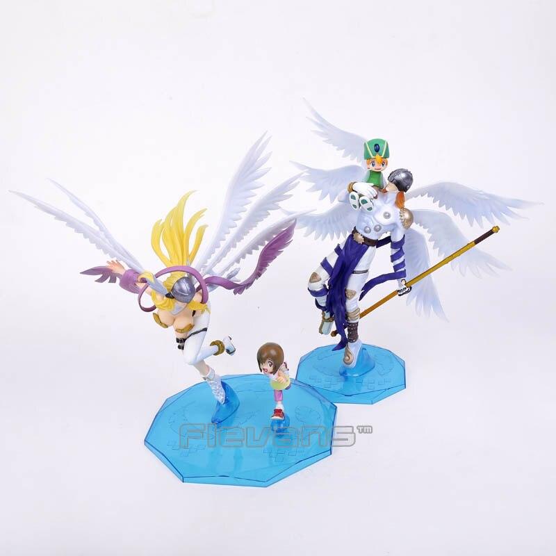 Digimon Adventure Digital Monster Takaishi Takeru &amp; Angemon / Yagami Hikari &amp; Angewomon PVC Figure Collectible Model Toy 25cm<br><br>Aliexpress