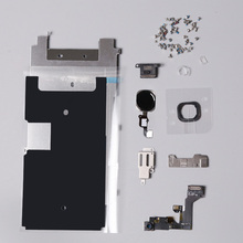 Full Set Repair Parts For iphone 6S 4.7 inch LCD Display Parts home button, camera, speaker, flex, Gasket Rubber ,screws parts(China)
