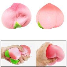 1PCS Jumbo Cute Squishy Slow Rising Peach Pendant Phone Straps Charms Queeze Kid Toy Squishies Toys