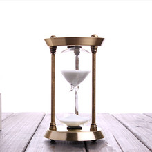 15 Minutes Hourglass Bronze Ornaments Creative Birthday Christmas Gift Sand Hourglass Clock Timer Home Decoration In Bedroom