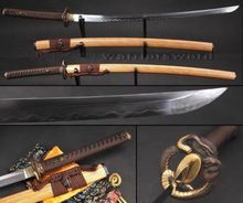Folded Steel Clay Tempered Katana Sword Sharp Full Tang Blade Japanese Sword 803