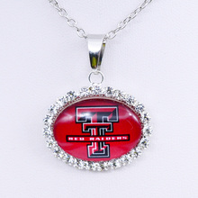 Necklace NCAA Texas Tech Red Raiders Charm Pendant University Basketball Jewelry for Women Gifts Party Birthday Wholesale 2018(China)