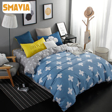SMAVIA Home Textile 3/4pcs Cartoon Bedding Sets Twin Full Queen King Bed Set Home Hotel Bed Linen Bed Sheet Kids Duvet Cover Set