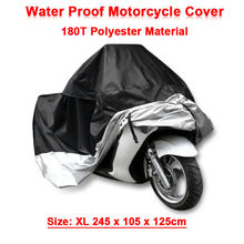 Size XL 245*105*125 cm Motorcycle Covering Waterproof Scooter Cover UV resistant Heavy Racing Bike Indoor Outdoor Cover D10