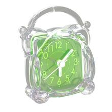 Boutique Small Crystal Plastic Desk Bell Alarm Clock with Light(China)