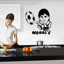 World Cup Play Football Mess Wall Sticker Football Decals Removable Parlor Kid Bedroom Home Decor