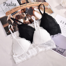 Pzalza 2017 New Arrival Women Lace Triangle Bra Unlined Deep v Wireless Bra Charming Summer Lace Bralette For Ladies Brassiere