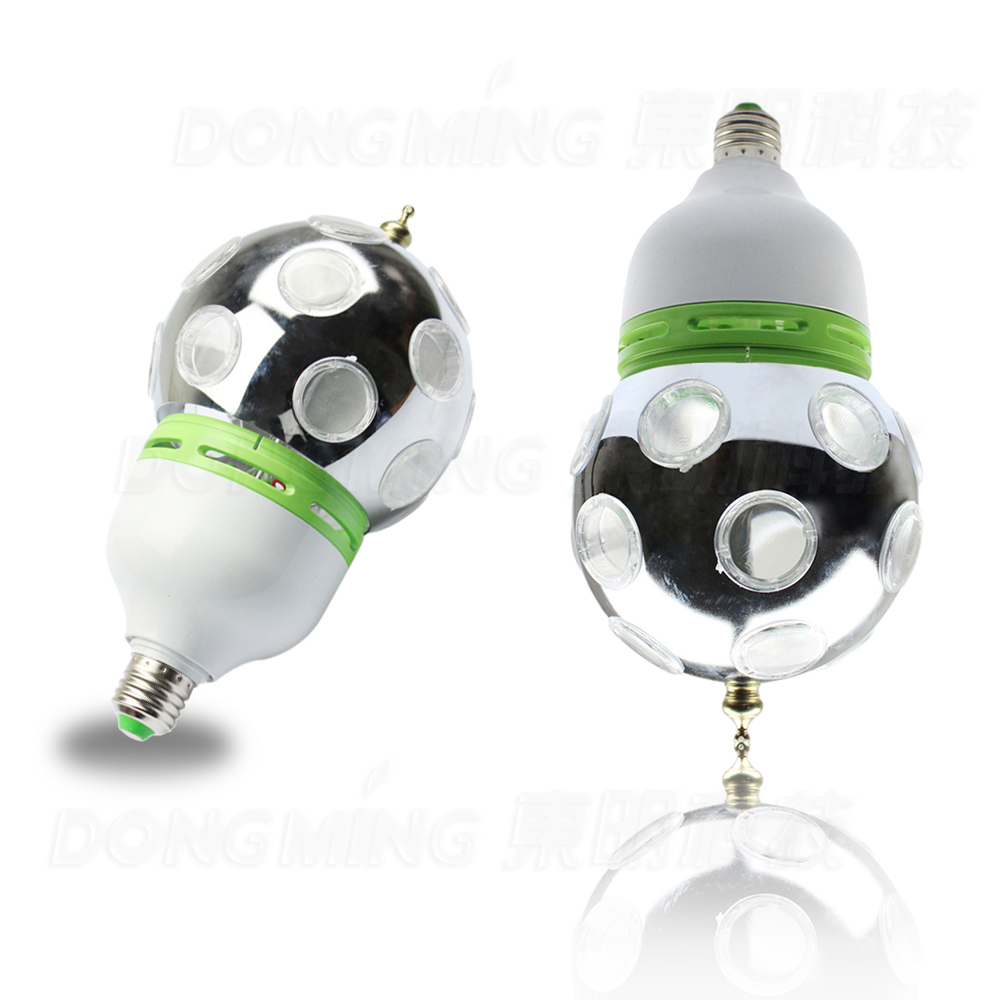 Free Shipping Auto Rotative Stage lights Full Color 1W E27 RGB LED Mini Stage Light DJ Light Disco light Bulb Lamp<br>