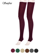 Sunfree 2016 New Design Hot Sale Winter Women Brief Over Knee Socks Leg Warmers Brand New and High Quality Nov 8