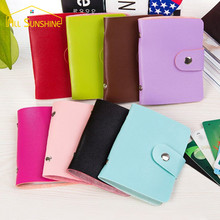 Card Bag Wallet ID Credit Card Purse Cash Holder Organizer 24 Slots PU Leather For Men Women