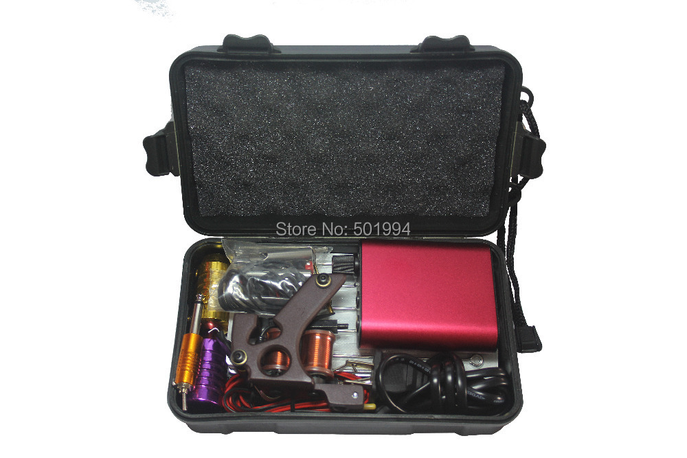 Tattoo Kit Professional with Best Quality Permanent Makeup Machine For Tattoo Equipment Cheap Red Tattoo Machines<br>
