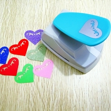35x43mm big size hollow out design sweet heart shape save effort type punch DIY hooby use paper cards scrapbook cutter supplier