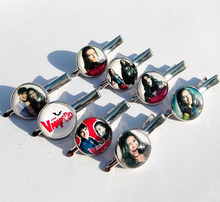 12pcs(Mixed 8 style) The Vampire Diaries Chica Vampiro daisy Glass Hairwear Cartoon Movie Cartoon barrette Nose clip