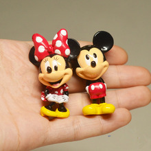 2pcs Original MINI Mickey Minnie Mouse Action Figures Model Doll for Collection Gifts 5CM