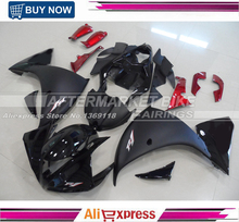 Matte Black Silver R1 Logo ABS Fairing Bodywork For Yamaha YZF R1 2009 2010 2011 Motorcycle Fairings With Gloss Black Nose(China)