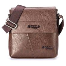 Retro Fashion Men Bag High Quality Pu Leather Shoulder Bag Men Messenger Bag Multi-Function Lightly Carrying Bags