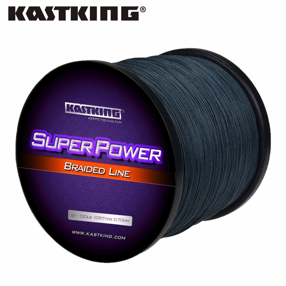 KastKing Brand Fishing Line 1000M 8 Stands  Multifilament Line 65-150LB  Braided Fishing Tackle Yellow, Gray,  White, Multicolor<br>