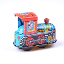 1PCS Steam Train Reminiscence Children Vintage Wind Up Tin Toy Clockwork Spring Locomotive Classic Toy for Baby Kids Children(China)