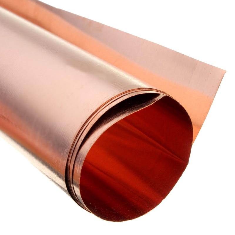 1pcs 99.9/% Pure Copper Cu Sheet Thin Metal Foil Plate 0.1mm*100mm*100mm