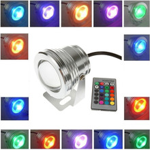 10W  RGB LED Underwater Light DC12V IP68 Waterproof Pool Aquarium Aquarium Pool Stainless Steel Car  Spotlight