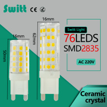 G9 LED 220V 5W 7W Mini LED G9 Bulb Lamp Ceramic Crystal High Power High Transmittance 360 Degree Spot Light