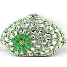 New Arrival Women Designer Handbags Mini Flower Pattern Crystal Clutch Hard Case Ladies Evening Branded Clutch Bags Cheap Sale