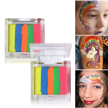 Rainbow Multicolor Body Paint Face Painting Art Pigment Oil Paintings Flash Tattoo Halloween Party Fancy Dress Temporary Makeup