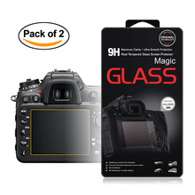 2x Self-Adhesive 0.3mm Glass LCD Screen Protector for Nikon D7500 D7200 D7100 D850 Digital SLR Camera