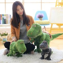 2017 MAY New PP Cotton Stuffed Dinosaur Plush Toy 45cm 55cm 70cm 100cm Gray Green Colors 1pcs Children Present Lifelike