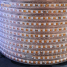 New 100m 220V LED Strip 2835 SMD 120leds/m Ribbon Tape rope Light Waterproof IP65 warm white brighter 3528 3014 5630 Wholesale