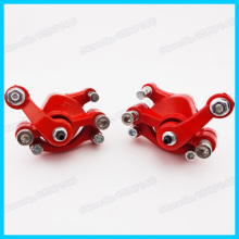 Red Front Left Rear Right Disc Brake Caliper For 43cc 47cc 49cc 2 Stroke Pocket Dirt Bike Mini Moto Gas Scooter Atv(China)