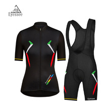 New design! 2017 Women cycling clothing / Eyessee female professional road cycling competition short-sleeved bicycle clothing(China)
