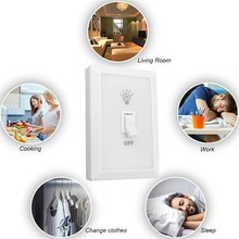 COB LED Night Light Wireless Switch Battery Operated Wall Camp Indoor Lamp With Switch Magic Tape