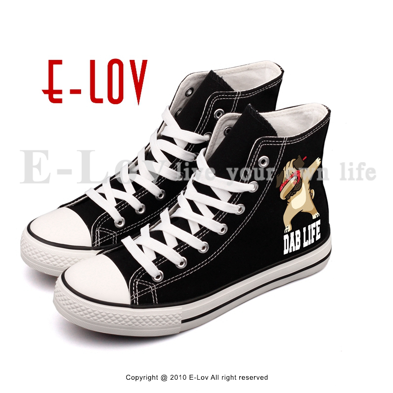 E-LOV New Arrival Dabbing Unicorn Printed Casual Canvas Shoes Hip Hop Womn Girls Flat Walking Shoes Big Size<br>