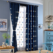 European Rural Cotton Curtain Embroidered Blackout Curtain Tulle  for Kitchen Living Room Bedroom Sitingroom Window