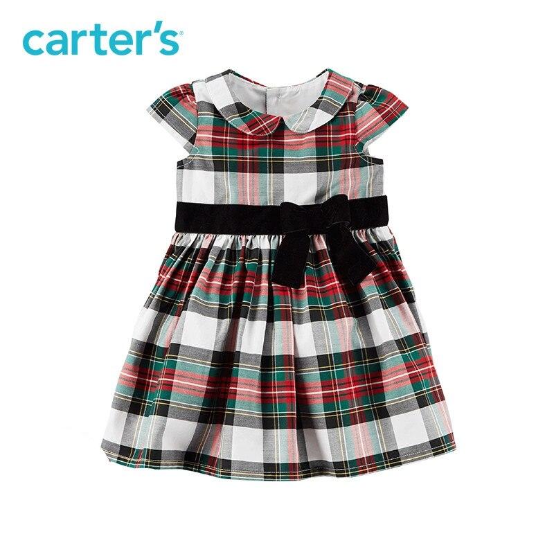 1-pièce de Carter bébé enfants enfants vêtements Fille Printemps Été Plaid de Vacances Robe 120G169 11