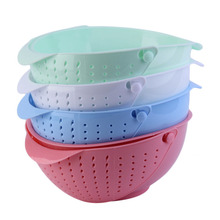 3 in 1 Clamshell Rice Fruit Vegetable Wash Strainer Sieve Kitchen Tool new arrival  drainer device strainer
