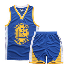 New 2017 Kids Basketball Suit Boys Girls Basketball Jersey Curry James Children Sport Suits 2Pcs Vest Short Pant Set 14 colors