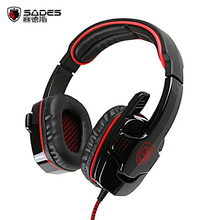SADES SA-901 Gaming Headphones USB Plug 7.1 Surround Stereo Deep Bass Game Headset Earphone with Mic for PC Computer Gamer