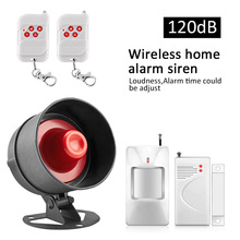 KERUI Home Security burglar Alarm System Loudly Speaker Door Sensors red light Siren Horn Anti-theft for garage and warehouse