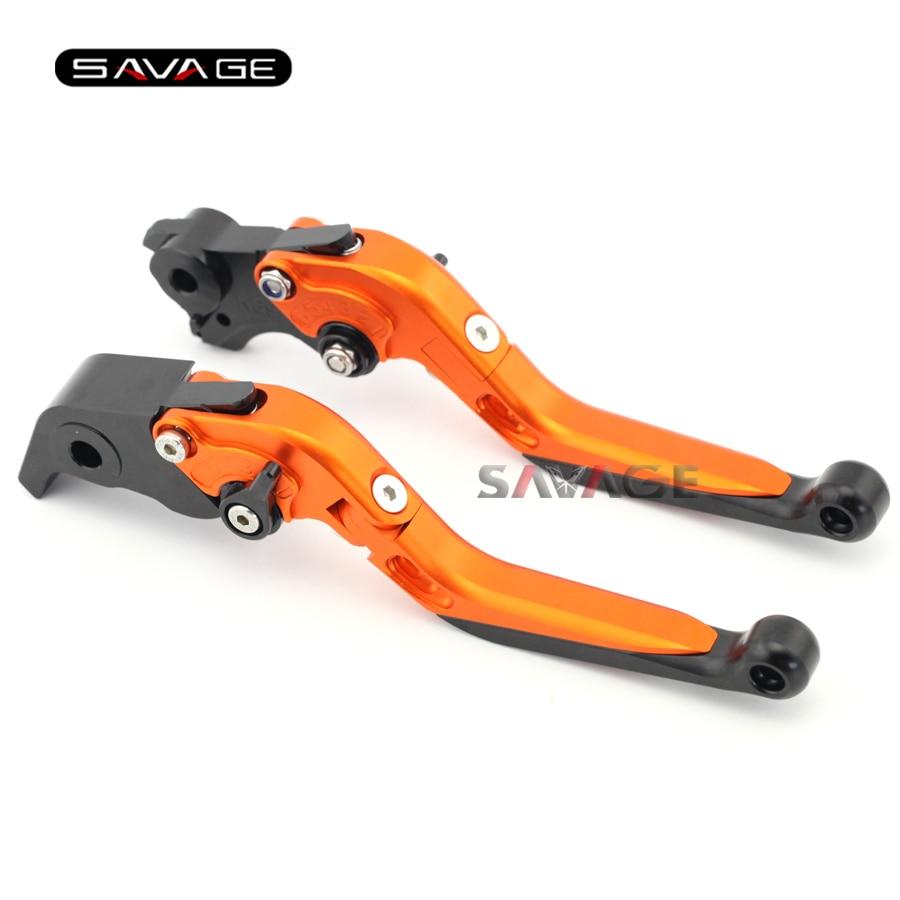 For KTM 1190 Adventure 2013-2016 14 15 Motorcycle Accessories Adjustable Folding Extendable Brake Clutch Levers Orange<br>