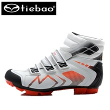 TIEBAO Professional Cycling Shoes sapatilha ciclismo Men winter superstar MTB Shoes Windproof Athletic Self-Locking Ankle Boots