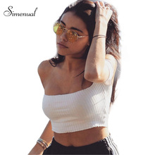 Off shoulder crop top women's t-shirts summer top fashion 2017 fitness slim sexy hot short t shirt cropped tops slash t-shirt
