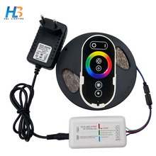 RGB Led Strip 2835 5M 10M RGB led strip Light Flexible Led Tape 15M 20M RGB Led Ribbon IP20 IP65+Remote+DC 12V Adapter Full Set