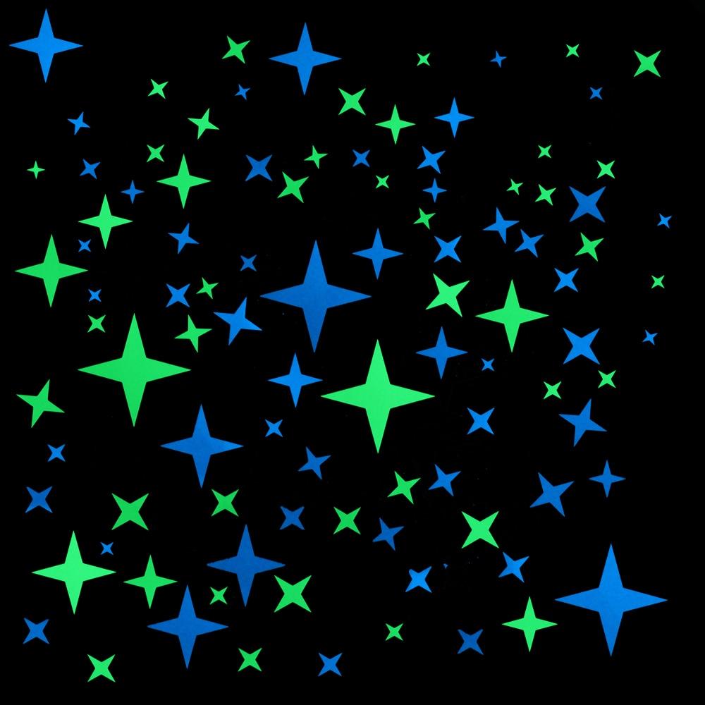 Glow in The Dark Ceiling Stars Decal 500 Star Sticker DIY Decals Realistic Kit
