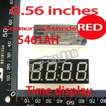 50PCS/LOT 0.56 inches Red Common Cathode 4 Digital Tube F5461AS 14Pin Advertising Lights Free shipping(China)