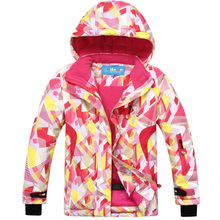 Hot Sale Winter Children Girls Outdoor Sport Waterproof Windbreaker Ski Snow Jacket Hooded Snowboard Skiing Coat Kids 6-16 Years