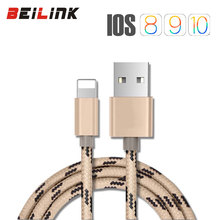 USB Data Charger Cable Nylon Braided Wire Metal Plug USB Cable for iPhone 7 6 6s Plus 5s 5 iPad